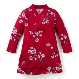 TEA COLLECTION 'Marcela' Floral Print Wrap Dress